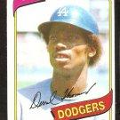 LOS ANGELES DODGERS DERREL THOMAS 1980 TOPPS # 23 NR MT