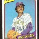 MILWAUKEE BREWERS JIM SLATON 1980 TOPPS # 24 NR MT