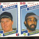 BOSTON RED SOX ROGER CLEMENS CHICAGO WHITE SOX HAROLD BAINES 1987 M&M PANEL NM/MT