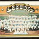 LOS ANGELES DODGERS TEAM CARD 1972 TOPPS # 522 VG