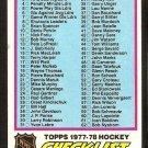 1977-78 TOPPS UNMARKED CHECKLIST # 68 VG+