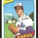 MONTREAL EXPOS DAVE PALMER 1980 TOPPS # 42 NR MT