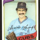 CHICAGO CUBS DENNIS LAMP 1980 TOPPS # 54 EX