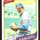TEXAS RANGERS DOYLE ALEXANDER 1980 TOPPS # 67 NR MT