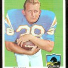 SAN DIEGO CHARGERS JACQUE MacKINNON 1969 TOPPS # 202 EM/NM