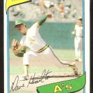 OAKLAND ATHLETICS DAVE HAMILTON 1980 TOPPS # 86 NR MT