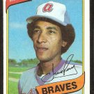 ATLANTA BRAVES PEPE FRIAS 1980 TOPPS # 87 NR MT