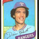 TEXAS RANGERS DAVE ROBERTS 1980 TOPPS # 93 NM/MT