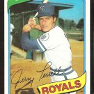 KANSAS CITY ROYALS JERRY TERRELL 1980 TOPPS # 98 NM/MT