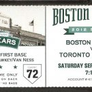 TORONTO BLUE JAYS BOSTON RED SOX 2012 TICKET ESCOBAR GOSE HOME RUNS