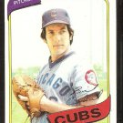 CHICAGO CUBS BILL CAUDILL 1980 TOPPS # 103 NR MT