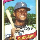 LOS ANGELES DODGERS MANNY MOTA 1980 TOPPS # 104 NR MT