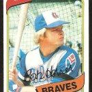 ATLANTA BRAVES BOB HORNER 1980 TOPPS # 108 NR MT