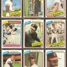 1980 TOPPS SAN FRANCISCO GIANTS TEAM LOT 26 DIFF McCOVEY JACK CLARK TEAM CARD DARRELL EVANS VIDA
