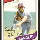 TEXAS RANGERS SPARKY LYLE 1980 TOPPS # 115 NR MT