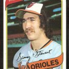 BALTIMORE ORIOLES SAMMY STEWART 1980 TOPPS # 119 NR MT