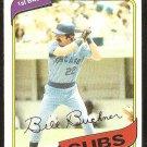 CHICAGO CUBS BILL BUCKNER 1980 TOPPS # 135 NR MT