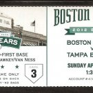 TAMPA BAY RAYS BOSTON RED SOX 2012 TICKET CODY ROSS LUKE SCOTT AVILAS HR DAVID ORTIZ 3 HITS