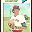 BOSTON RED SOX JIM WILLOUGHBY 1977 TOPPS # 532 VG/EX