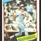 SEATTLE MARINERS BRUCE BOCHTE 1980 TOPPS # 143 NR MT