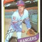 TEXAS RANGERS STEVE COMER 1980 TOPPS # 144 NM/MT