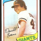 SAN FRANCISCO GIANTS DARRELL EVANS 1980 TOPPS # 145 NR MT