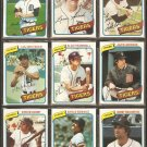 1980 TOPPS DETROIT TIGERS TEAM LOT 25 DIFF TRAMMELL JACK MORRIS WHITAKER FIDRYCH PARRISH +