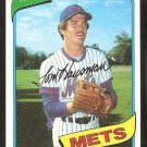 NEW YORK METS TOM HAUSMAN 1980 TOPPS # 151 NR MT