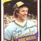 MILWAUKEE BREWERS LARRY SORENSEN 1980 TOPPS # 154 NR MT