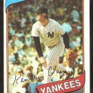 NEW YORK YANKEES KEN CLAY 1980 TOPPS # 159 NR MT