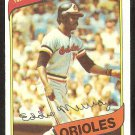 BALTIMORE ORIOLES EDDIE MURRAY 1980 TOPPS # 160 NR MT