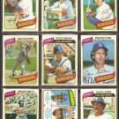 1980 TOPPS LOS ANGELES DODGERS TEAM LOT 27 DIFF GARVEY RUSSELL SUTTON CEY SUTCLIFFE RC +