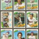 1980 TOPPS NEW YORK METS TEAM LOT 26 DIFF OROSCO SCOTT RC MAZZILLI MADDOX +