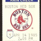 CHICAGO WHITE SOX BOSTON RED SOX 1985 TICKET CARLTON FISK HR WADE BOGGS JIM RICE