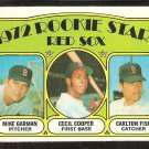 BOSTON RED SOX CARLTON FISK CECIL COOPER ROOKIE CARD RC 1972 TOPPS # 79