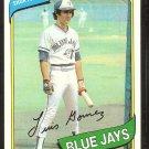 TORONTO BLUE JAYS LUIS GOMEZ 1980 TOPPS # 169 NM