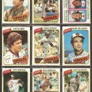 1980 TOPPS BALTIMORE ORIOLES TEAM LOT 26 DIFF EDDIE MURRAY JIM PALMER FLANAGAN DEMPSEY +