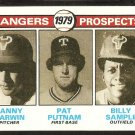 TEXAS RANGERS FUTURE PROSPECTS DANNY DARWIN PAT PUTNAM BILLY SAMPLE 1979 TOPPS # 713 EX