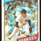 NEW YORK YANKEES RON DAVIS 1980 TOPPS # 179 NR MT