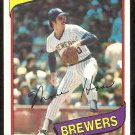 MILWAUKEE BREWERS MOOSE HAAS 1980 TOPPS # 181 NR MT