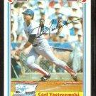 BOSTON RED SOX CARL YASTRZEMSKI 1983 DRAKES BIG HITTERS # 32 NM/MT