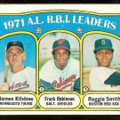 RBI LDRS TWINS HARMON KILLEBREW ORIOLES FRANK ROBINSON RED SOX 1972 TOPPS # 88 VG+