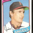 CALIFORNIA ANGELS JIM ANDERSON 1980 TOPPS # 183 NR MT