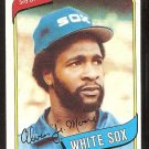 CHICAGO WHITE SOX JUNIOR MOORE 1980 TOPPS # 186 NR MT