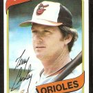 BALTIMORE ORIOLES TERRY CROWLEY 1980 TOPPS # 188 NR MT