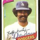 LOS ANGELES DODGERS TED MARTINEZ 1980 TOPPS # 191 NR MT