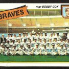 ATLANTA BRAVES TEAM CARD W/ BOBBY COX 1980 TOPPS # 192