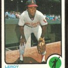CALIFORNIA ANGELS LEROY STANTON 1973 TOPPS # 18 VG