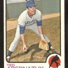 KANSAS CITY ROYALS TED ABERNATHY 1973 TOPPS # 22 VG