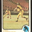 SAN DIEGO PADRES FRED NORMAN 1973 TOPPS # 32 good